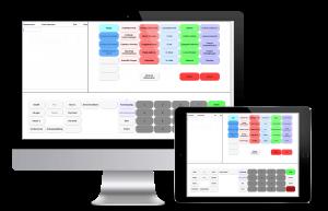 Online kassesystem computer tablet