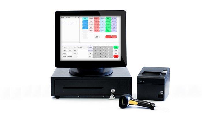 Kassesystem dankortterminal kasseapparat touch