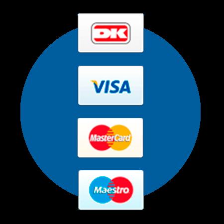 Indløsningsaftale der understøtter Visa/dankort, Visa, mastercard og Maestro